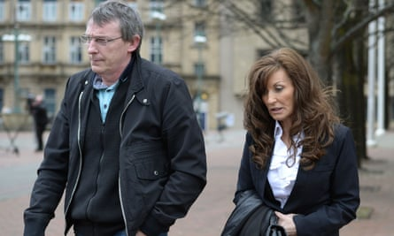 Dave and Sonia Johnson, the parents of Adam Johnson, leave Bradford crown court.