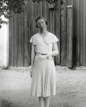 """Siri Johanson in confirmation attire., Kotte, Altuna Parish: 1931  Often they are looking straight into the camera. As if they can see us. As if their gaze can travel the hundred years or so that lie between their time and ours. As if they were saying, """"You are alive now, but we were once alive."""""""
