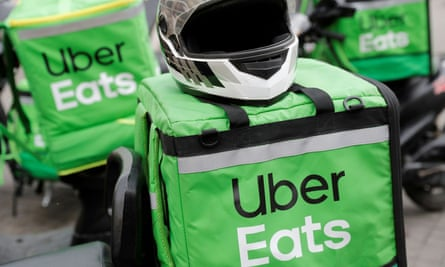 File photo of Uber Eats delivery bags