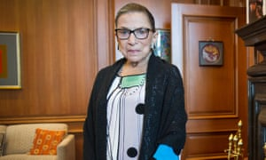 Justice Ruth Bader Ginsburg stands in her supreme court chambers in Washington on 21 July 2014.