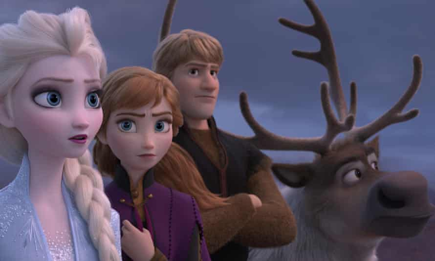 Frozen 2, a box-office hit available on the Disney+ streaming service.