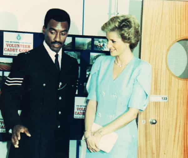 Sgt Logan escorting Princess Diana