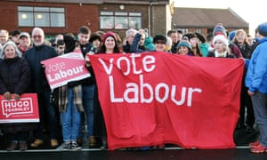 Labour party supporters in Whitby.