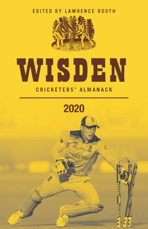 The front cover of the 2020 edition of the Wisden Cricketers' Almanack