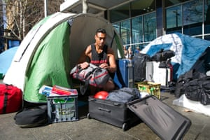 designer fashion cf033 7a066 Sydney s homeless tent city taken down after new law comes into force
