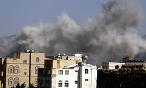 Coalition airstrikes target an army academy in Sana''a