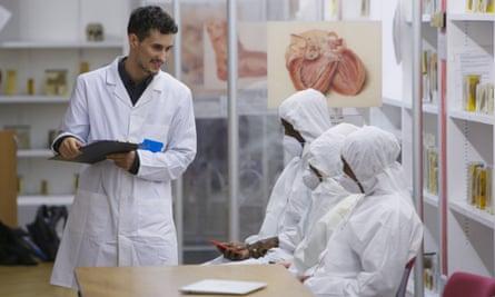 Junior Machado in the surroundings of Barts pathology hospital.