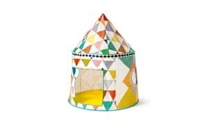 Djeco Multicoloured Tent Hut, £49, alexandalexa.com