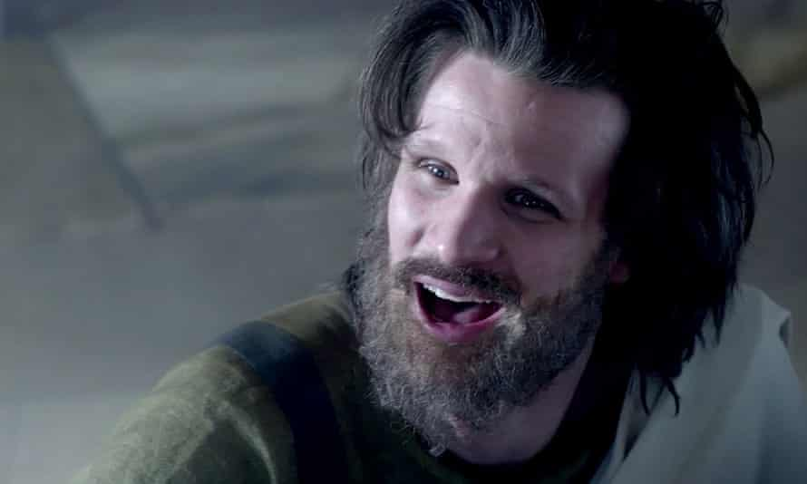 'The gimlet-eyed patriarch-abuser and poundshop Messiah' … Matt Smith in Charlie Says