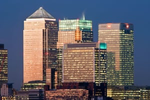 Financial offices in Canary Wharf, London