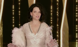 Juliette Binoche on stage at Cannes in Call My Agent.