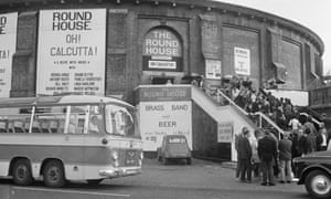 People queuing outside the Roundhouse, 1970