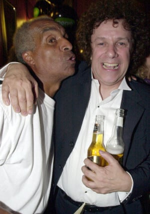 Kenny Lynch and Leo Sayer in 2001. They both had hits with Up on the Roof.