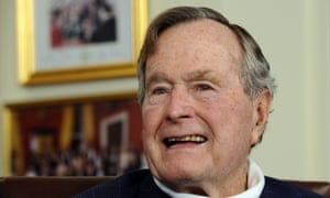 Former US president George HW Bush, pictured in Houston, Texas, in 2012.