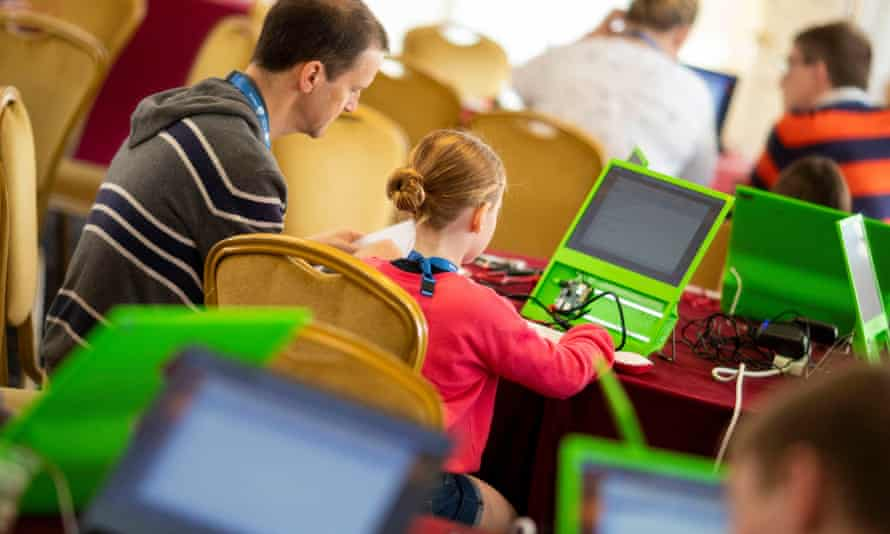 Parents and children at a Raspberry Pi workshop last year.