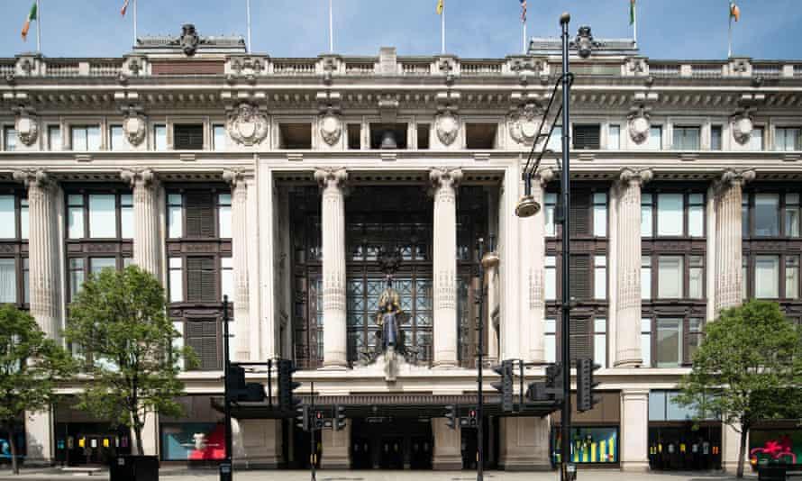 Selfridges department store in Oxford Street, London