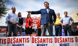 Ron DeSantis campaigning in Florida in the run-up to the midterms.