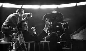 Stanley Kubrick behind the camera for Dr Strangelove.