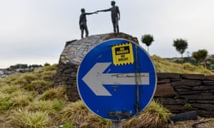 'A satisfactory resolution has yet to be found for the Irish border.'