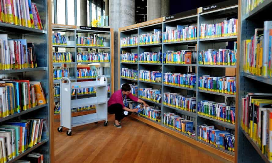 Shelf doubt … a local public library.