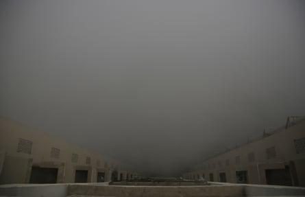 Smog in New Delhi, India.