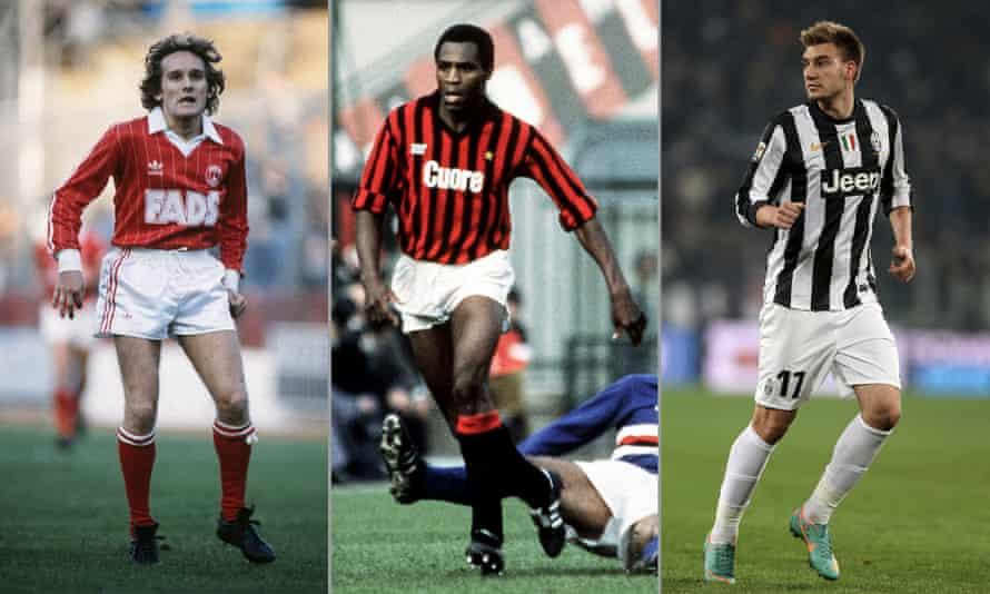 Allan Simonsen on his debut for Charlton in 1982, Luther Blissett at Milan and Nicklas Bendtner's brief spell at Juventus.