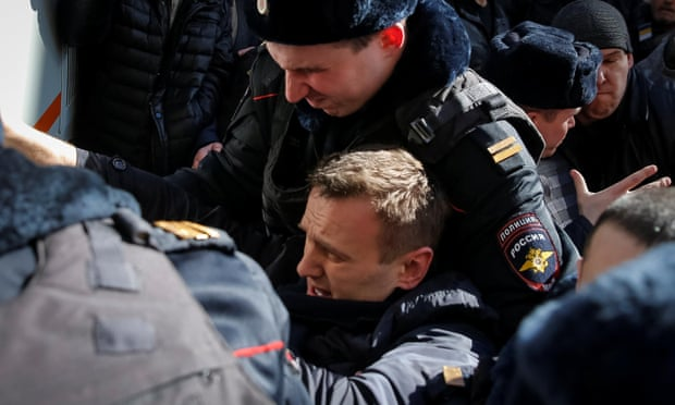 theguardian.com - Opposition leader Alexei Navalny arrested amid protests across Russia