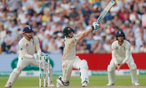Steve Smith hits a brutal six on the way to his 24th Test century.