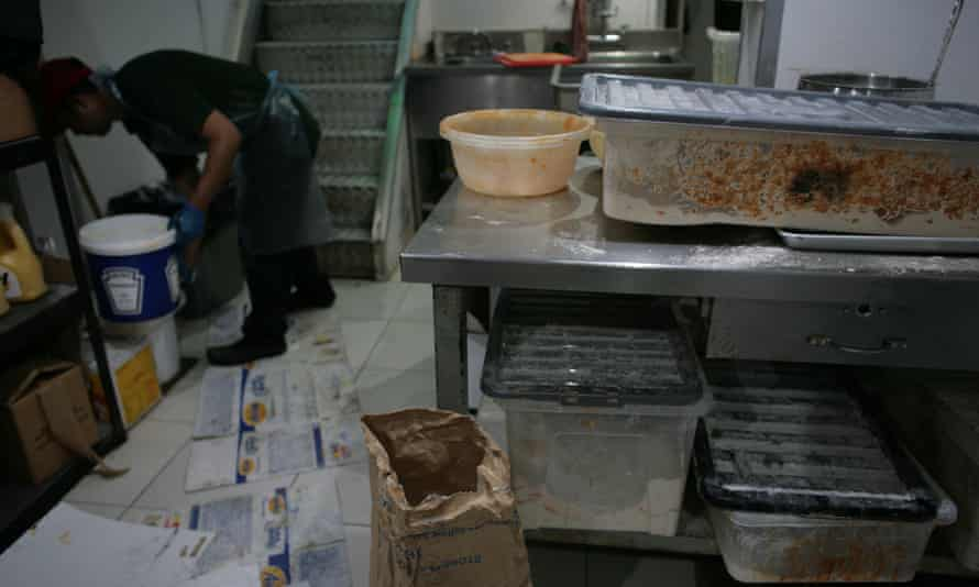 Food preparation area at King's Peri Peri Chicken