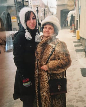 Delgado and her grandmother in winter 2004.