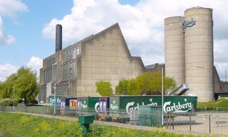 The Carlsberg brewery in Northampton