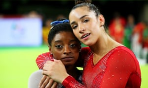 Simone Biles (left) and Aly Raisman were among the stars of the Rio Olympics in 2016 but in 2018 stood out as they gave evidence against Larry Nassar.