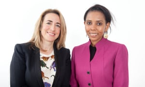 The Guardian's editor-in-chief, Katharine Viner, with Jaha Dukureh.