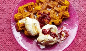Pumpkin and almond waffles for breakfast?