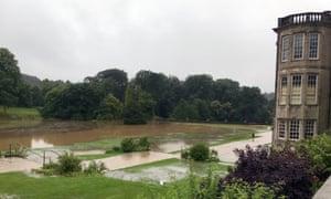 Lyme Hall flood damage