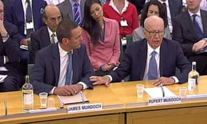 Murdoch's 'most humbling day' giving evidence to the Commons culture select committee in2001.