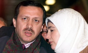 Erdoğan with his wife Emine in 1999, the day before he was sent to prison for inciting a religious insurrection