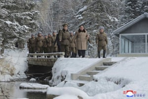 """Kim said that """"we should always live and work in the offensive spirit of Paektu,"""" according to KCNA. """"The imperialists and class enemies make a more frantic attempt to undermine the ideological, revolutionary and class positions of our party."""""""
