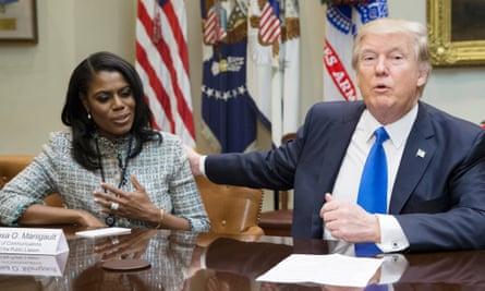 Donald Trump with Omarosa Manigault-Newman