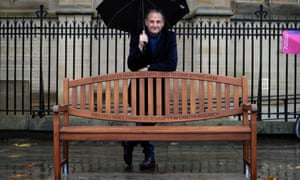 Mark Radcliffe and bench