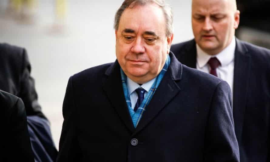 Alex Salmond arriving at Edinburgh high court in March 2020.