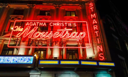 Agatha Christie's The Mousetrap at St Martin's theatre.