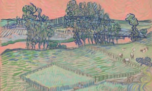 A digital reconstruction of Van Gogh's watercolour The Oise at Auvers