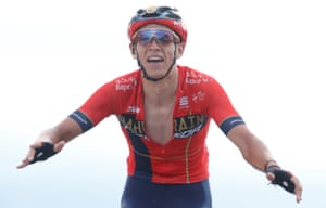 Dylan Teuns wins the stage.
