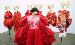 Designs by Rei Kawakubo on display at The Art Of The In-Between exhibition in New York.