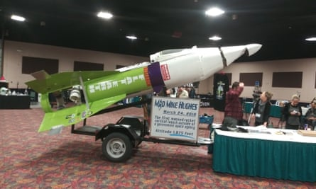 A rocket design to prove a horizontal hypothesis at the Flat Earth conference in Denver, Colorado, November 2018.