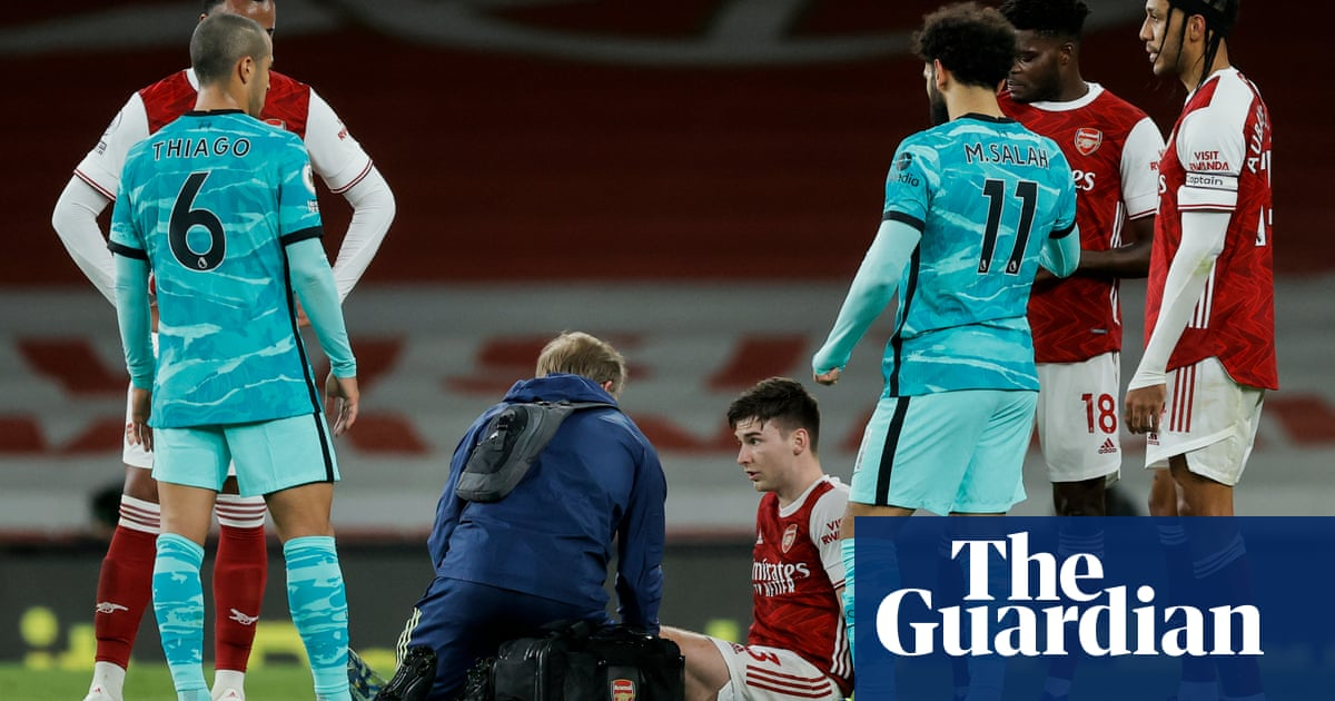 Kieran Tierney could miss rest of season with knee injury in Arsenal blow
