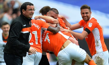 Blackpool 2-1 Exeter City: League Two play-off final – as it happened