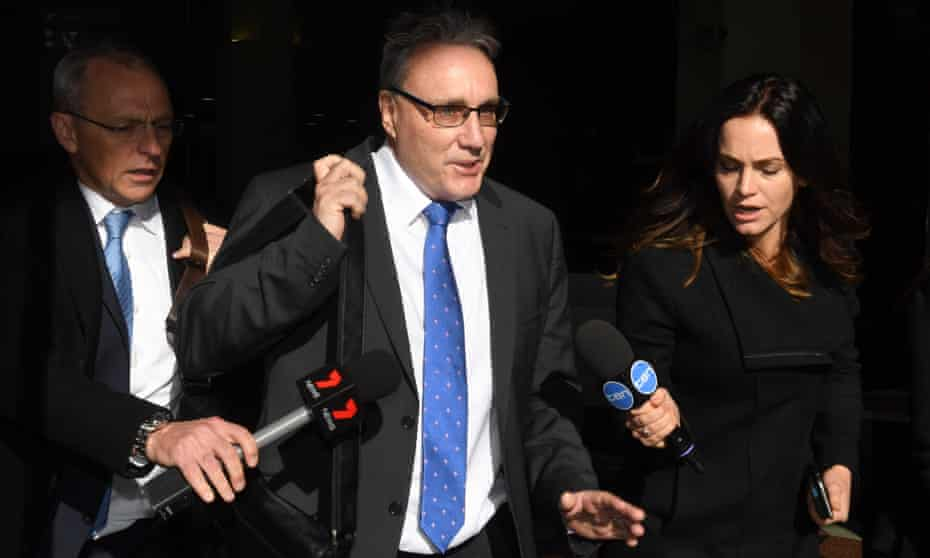 Michael Cranston leaves court in Sydney on Tuesday