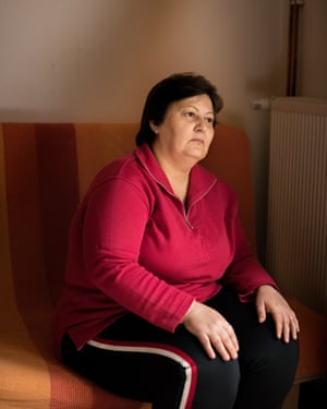 Tatjana Ilic, 50, who spent seven years inside an institution before moving to an apartment in Osijek